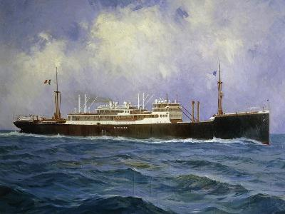 Italian Motor Ship Esquilino, Built for Lloyd Trieste and Launched in 1963, Italy, 20th Century--Giclee Print