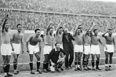 Italian National Football Team, Berlin Olympics, 1936--Giclee Print