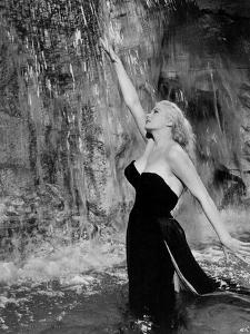 Anita Ekberg in the film 'La Dolce Vita', 1960 (film still) by Italian School