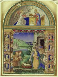 The Annunciation, the Adoration of the Child by the Virgin Mary, St. Joseph, St. Anthony of Padua… by Italian