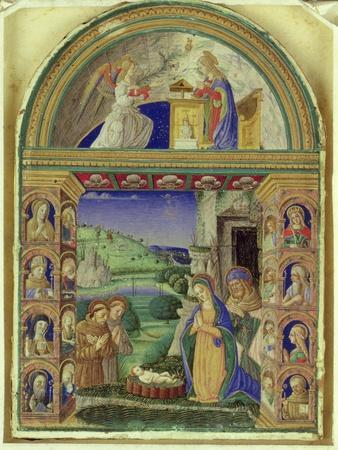 The Annunciation, the Adoration of the Child by the Virgin Mary, St. Joseph, St. Anthony of Padua…