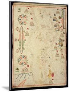 The Mediterranean Basin, from a Nautical Atlas, 1646 (Ink on Vellum) (See also 330937-330938) by Italian