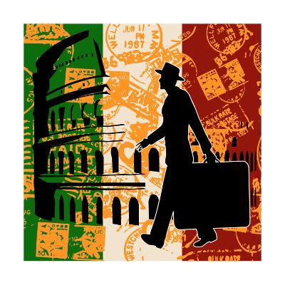 Italian Travel Flyer-Petrafler-Art Print