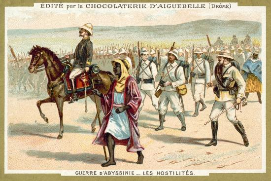 Italian Troops on the March, First Italo-Ethiopian War, 1896--Giclee Print