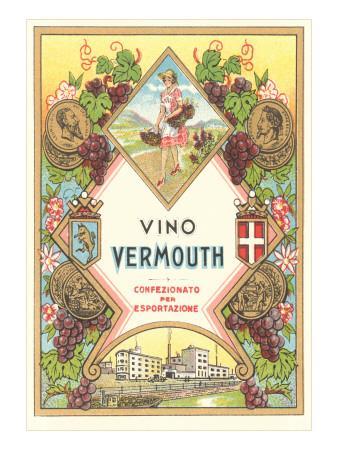 Italian Vermouth Label--Art Print