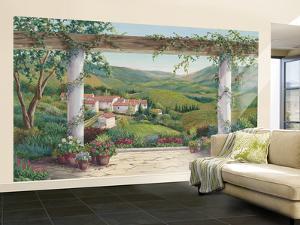 Italian Villa Small Huge Mural Art Print Poster