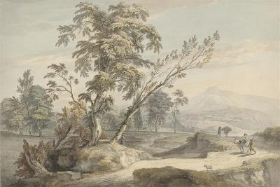 Italianate Landscape with Travellers No.2, C.1760 (W/C, Pen and Grey Ink over Graphite)-Paul Sandby-Giclee Print