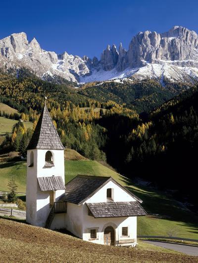 Italien, Sv¼dtirol, Villnv?VŸtal, St. Cyprian, Geislerspitzen, AuvŸen, Berglandschaft-Thonig-Photographic Print