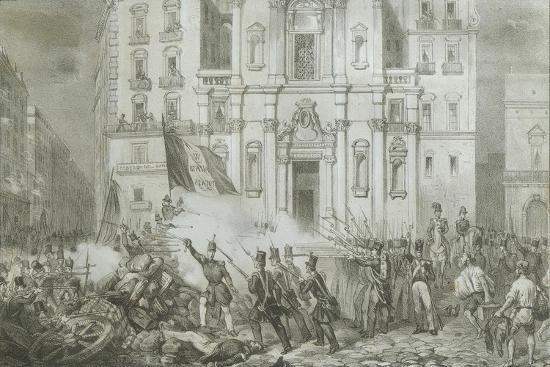 Italy - 19th Century, First War of Independence - 'Resurgence Uprising in Naples', May 15, 1848--Giclee Print