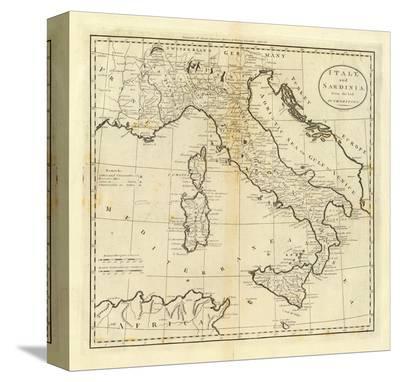 Italy and Sardinia, c.1796-Mathew Carey-Stretched Canvas Print