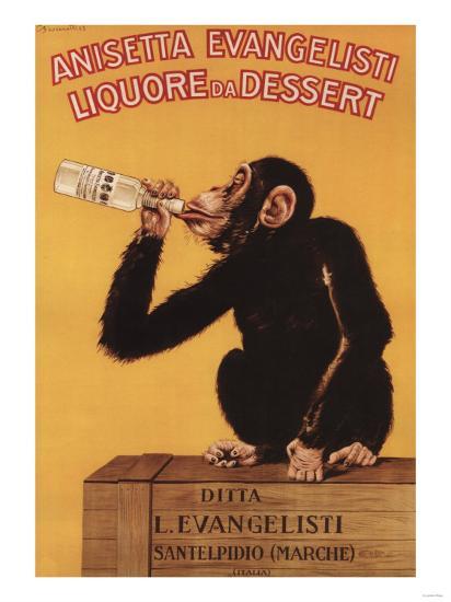 Italy - Anisetta Evangelisti Liquore da Dessert Promotional Poster-Lantern Press-Art Print