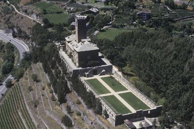 Italy, Aosta Valley, Castle of Sarre, Aerial View--Giclee Print