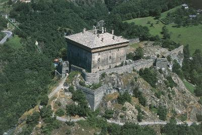 Italy, Aosta Valley, Castle of Verres, Aerial View--Giclee Print