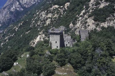 Italy, Aosta Valley, Lys Valley, Superior Castle of Arnad, Aerial View--Giclee Print
