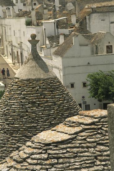 Italy, Apulia Region, Le Murge, Trulli Houses, Folk Architecture at Alberobello--Giclee Print