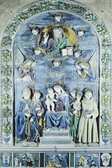 Italy, Arezzo, Cathedral, Madonna and Child with Four Saints, from Workshop of Andrea Della Robbia--Giclee Print