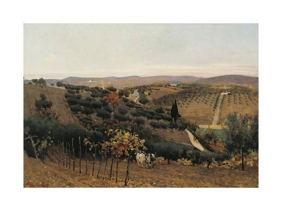 Italy, Autumn in the Countryside of Siena--Giclee Print