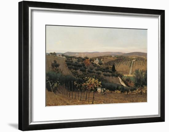 Italy, Autumn in the Countryside of Siena--Framed Giclee Print