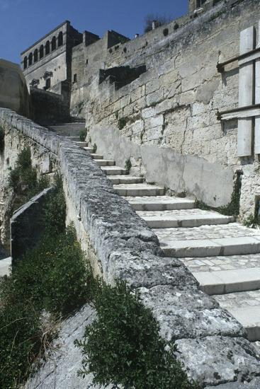 Italy, Basilicata, Matera, Sassi Rock-Cut Dwellings--Giclee Print