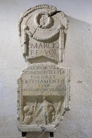 Italy, Bergamo, Clusone, Funeral Inscription of Custos Armorum, Keeper of Armaments--Giclee Print