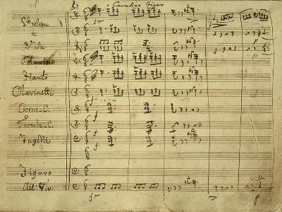 Italy, Bologna, Autograph Score, Figaro's Cavatina for Opera Il Barbiere Di Siviglia--Giclee Print