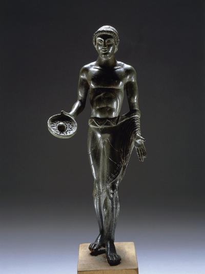 Italy, Bologna, Monte Acuto Ragazza, Bronze Statue Depicting Male Youth Praying--Giclee Print