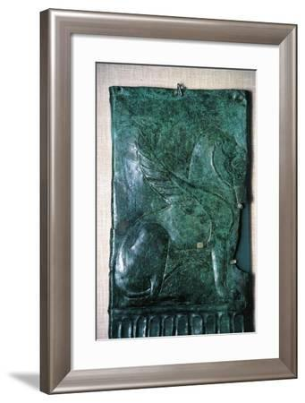 Italy, Bronze Slab Depicting a Mythological Animal, from the Excavation Site of Castel San Mariano--Framed Giclee Print