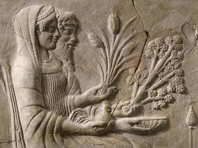 Italy, Calabria, Locri, Pinax Depicting Persephone and Pluto Sitting, Terracotta--Giclee Print