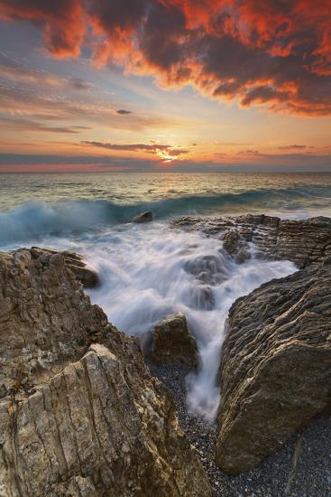 Italy, Calabria , Sunset at Leucopetra Cliff-Alfonso Morabito-Photographic Print