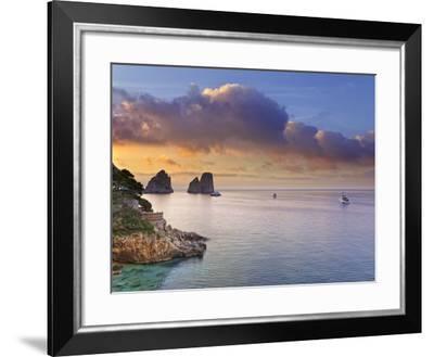 Italy, Campania, Napoli District, Capri, Faraglioni-Francesco Iacobelli-Framed Photographic Print