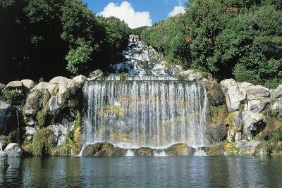 Italy, Campania Region, Caserta Province, Caserta, Royal Palace, Waterfall--Giclee Print