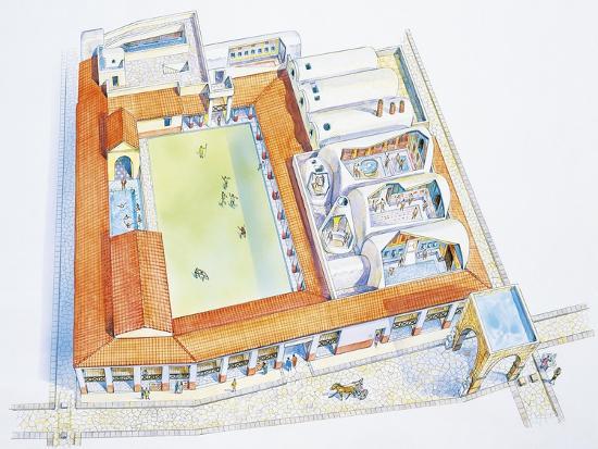 Italy, Campania Region, Pompei, Reconstructed Bathouse--Giclee Print