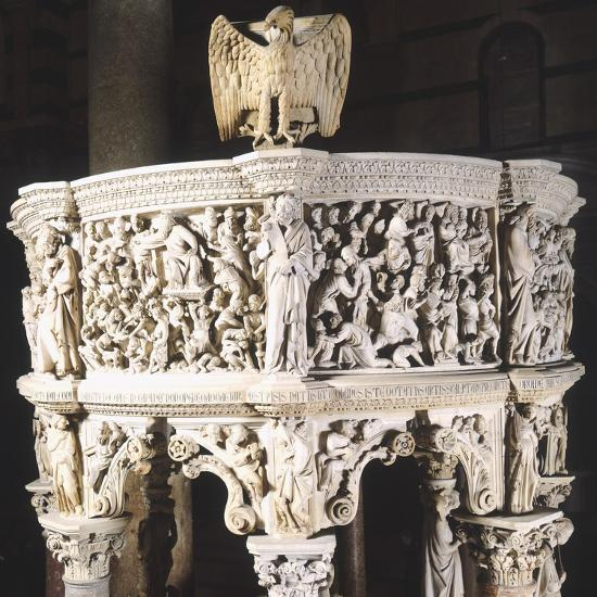Italy, Cathedral of Pisa, Pergamon or Pulpit, 1301-1310-Giovanni Pisano-Giclee Print