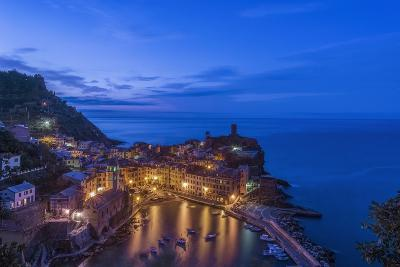 Italy, Cinque Terre, Vernazza at Dawn-Rob Tilley-Photographic Print