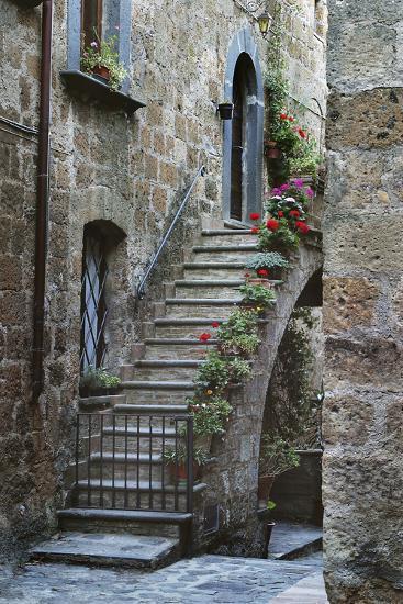 Italy, Civita de Bagnoregio Staircase-John Ford-Photographic Print