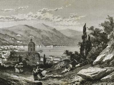Italy. Como View of the Town Near the Lake--Giclee Print