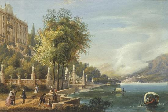Italy, Como, View of Villa Carlotta and Lake--Giclee Print