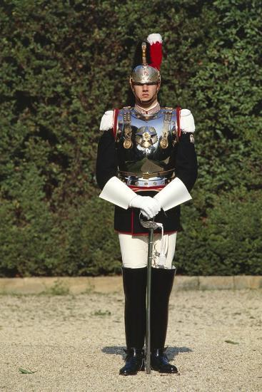 Italy, Corazzieri Soldier in Uniform at Cuirassiers Gala--Giclee Print