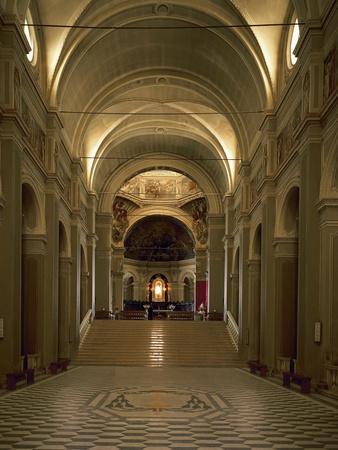 Italy, Emilia-Romagna, Cesena, Interior of Abbey of St Maria Del Monte--Giclee Print