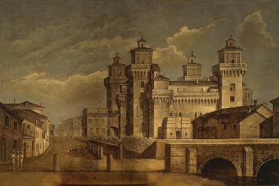 Italy, Emilia Romagna Region, Ferrara, Castello Estense--Giclee Print