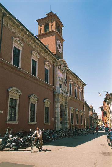 Italy - Emilia-Romagna Region-Ferrara, Library Building on Via Delle Scienze--Giclee Print