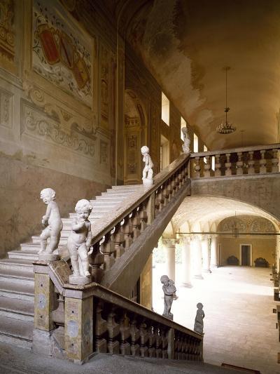 Italy, Emilia-Romagna, Rocca Meli-Lupi of Soragna, Interior Staircase--Giclee Print