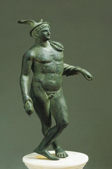 Italy, Emilia-Romagna, Velleia, Statuette Representing Mercury--Giclee Print