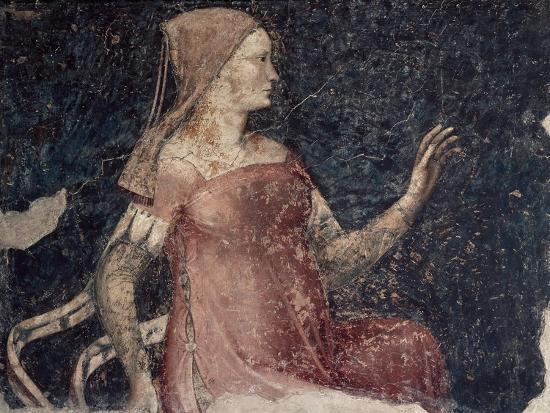 Italy, Ferrara, House of Minerbi, Room of Allegories, Inconstancy, from Cycle of Vices and Virtues--Giclee Print