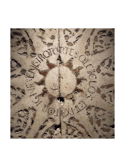 Italy, Florence, Baptistery of Saint John the Baptist, Decorated Floor Detail--Giclee Print