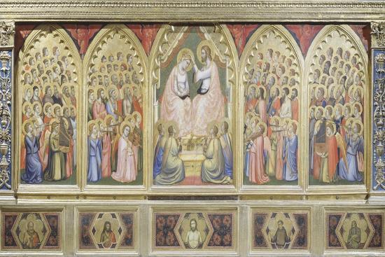 Italy, Florence, Basilica of Holy Cross, Bandini Baroncelli Chapel, Coronation of Virgin, 1328-Giotto di Bondone-Giclee Print