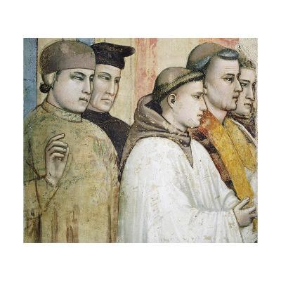 Italy, Florence, Basilica of Holy Cross, Bardi Chapel, Death of St Francis, 1325-1330-Giotto di Bondone-Giclee Print