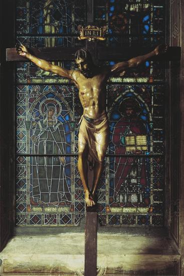 Italy, Florence, Church of Santa Croce, Crucifix, 1406-1408--Giclee Print