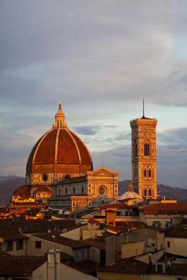 Italy, Florence, Main Duomo with evening's last light.-Terry Eggers-Photographic Print