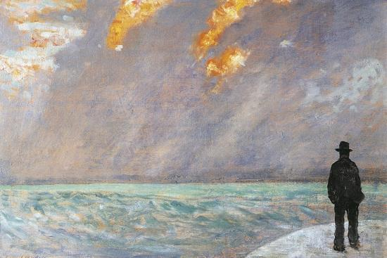 Italy, Florence, Sunset on the Sea, 1890-1895--Giclee Print